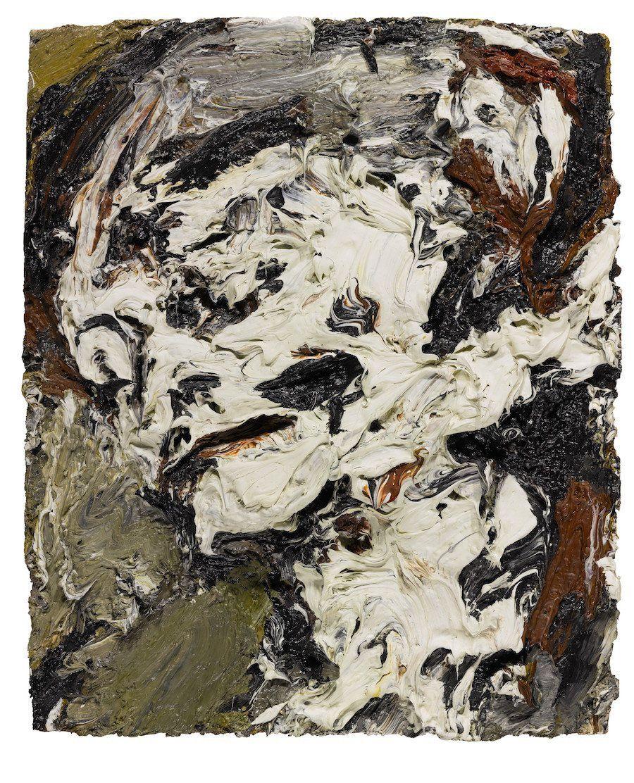 "Frank Auerbach, ""Head of Gerda Boehm,"" 1965 Oil on board"
