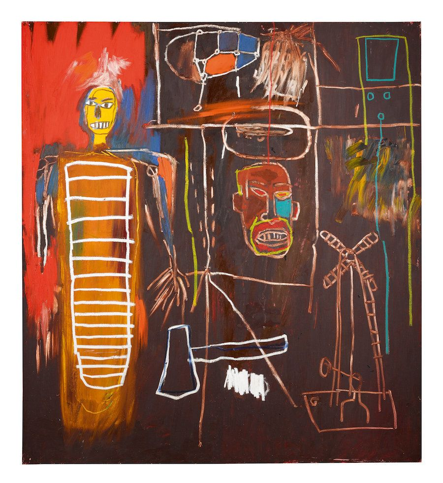 """Jean-Michel Basquiat, """"Air Power,"""" 1984 Acrylic and oilstick on canvas"""