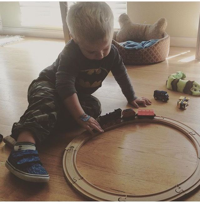 Trains, trucks & toys, there's nothing quite like little boys! <3
