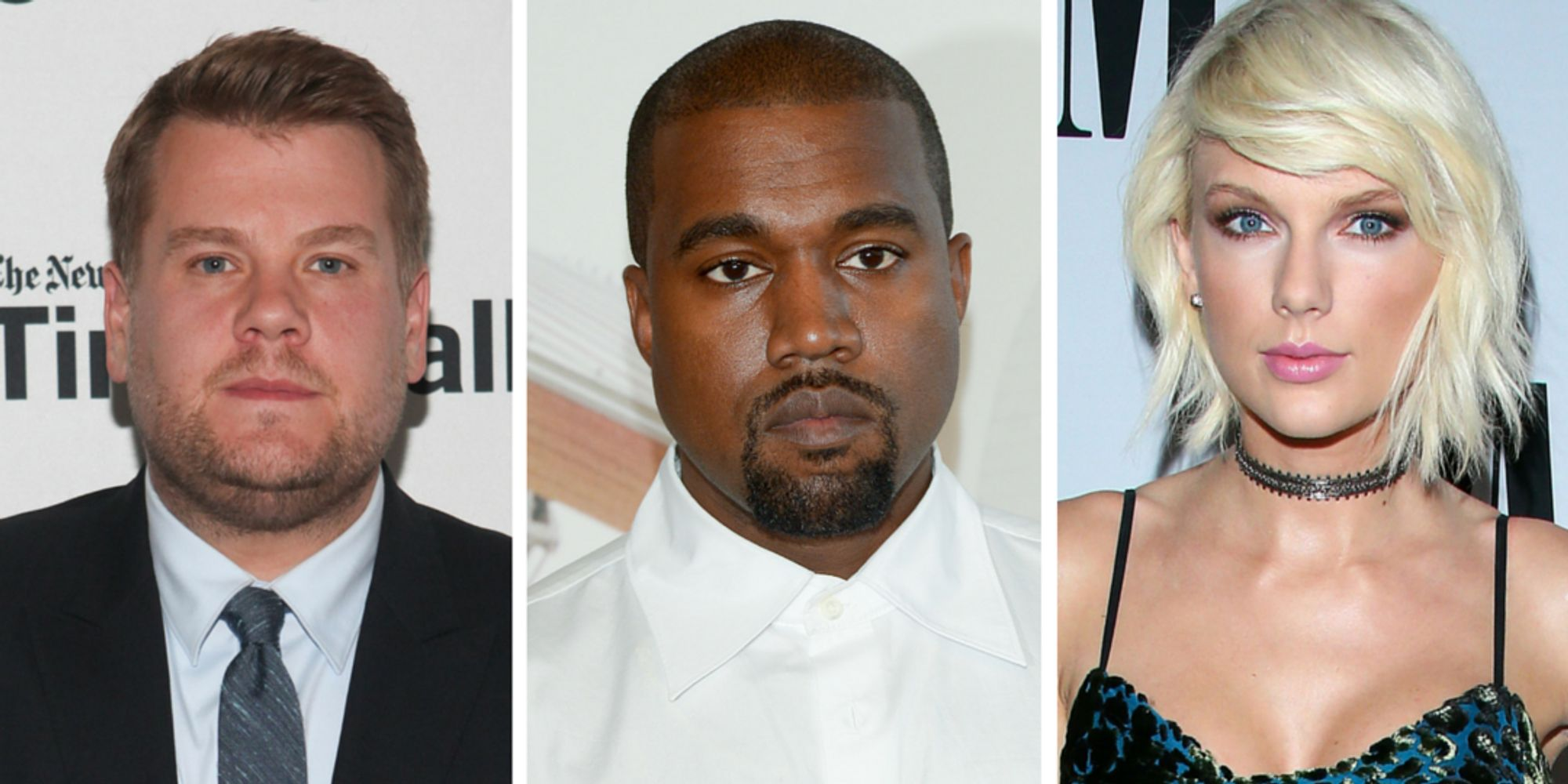 James Corden Hilariously Inserts Himself Into The Kim K, Kanye And Taylor Swift Narrative