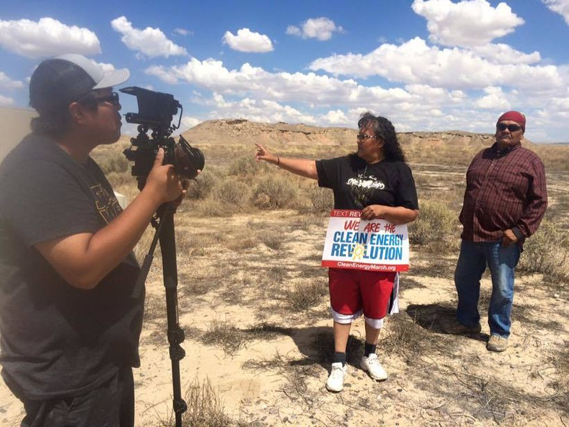"Stories from Dine (Navajo) Nation of Dooda (No) Desert Rock Power Plant <a href=""https://www.facebook.com/hashtag/protectourp"