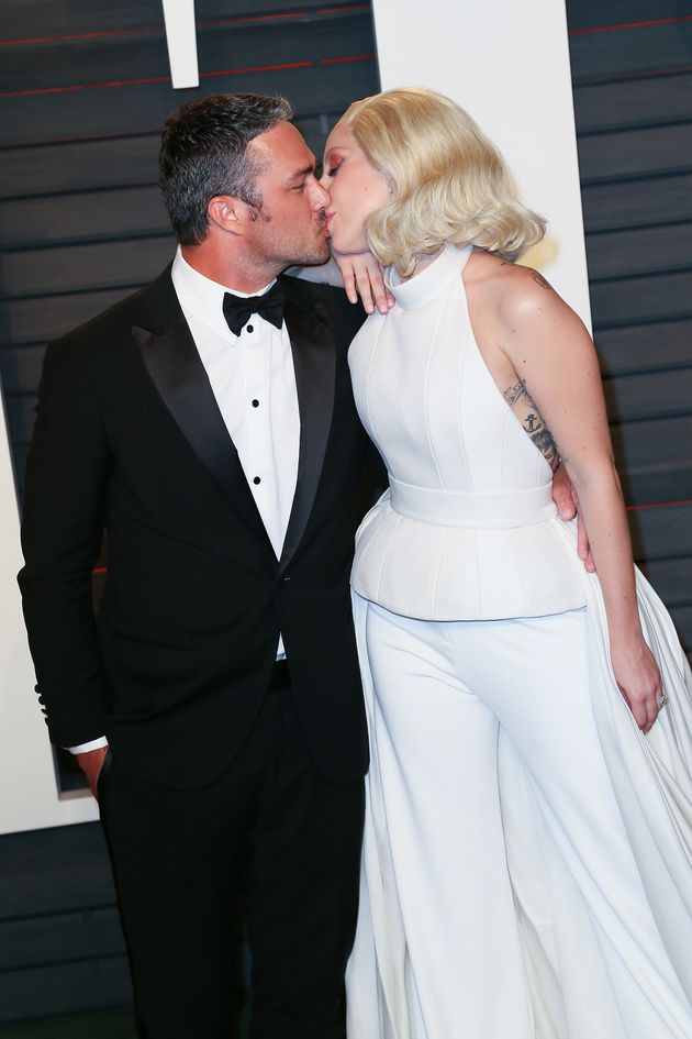 Gaga and Taylor at this year's Oscars, just two weeks after getting