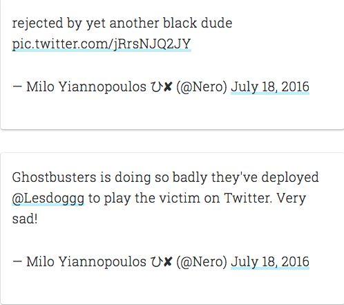Twitter Ban For Breitbart's Milo Yiannopoulos Over Leslie Jones Trolling SparksSocial Media 'Free Speech'