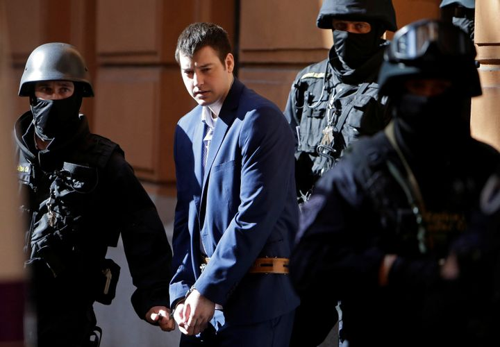 A Czech court sentenced KevinDahlgren, 24, on Wednesday over the stabbing murders offour of his relatives during