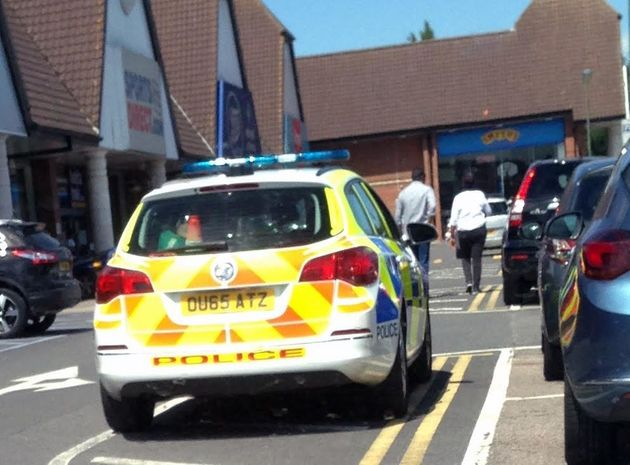 Police were called after attempts to notify the woman to return to her car