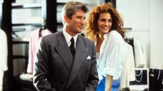 Richard Gere and Julia Roberts in a scene from the film 'Pretty Woman', 1990. (Photo by Buena Vista/Getty Images)