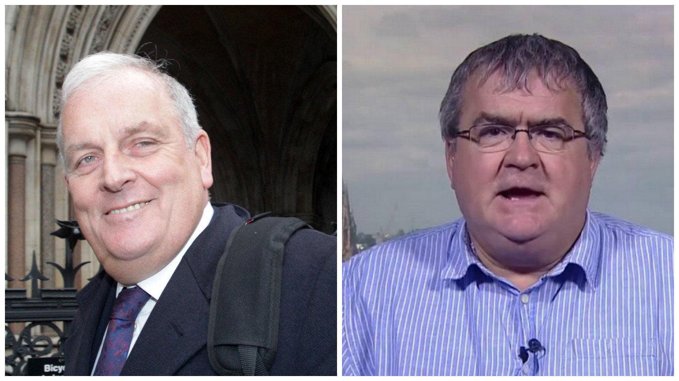 John Gaunt (right) defended Kelvin MacKenzie