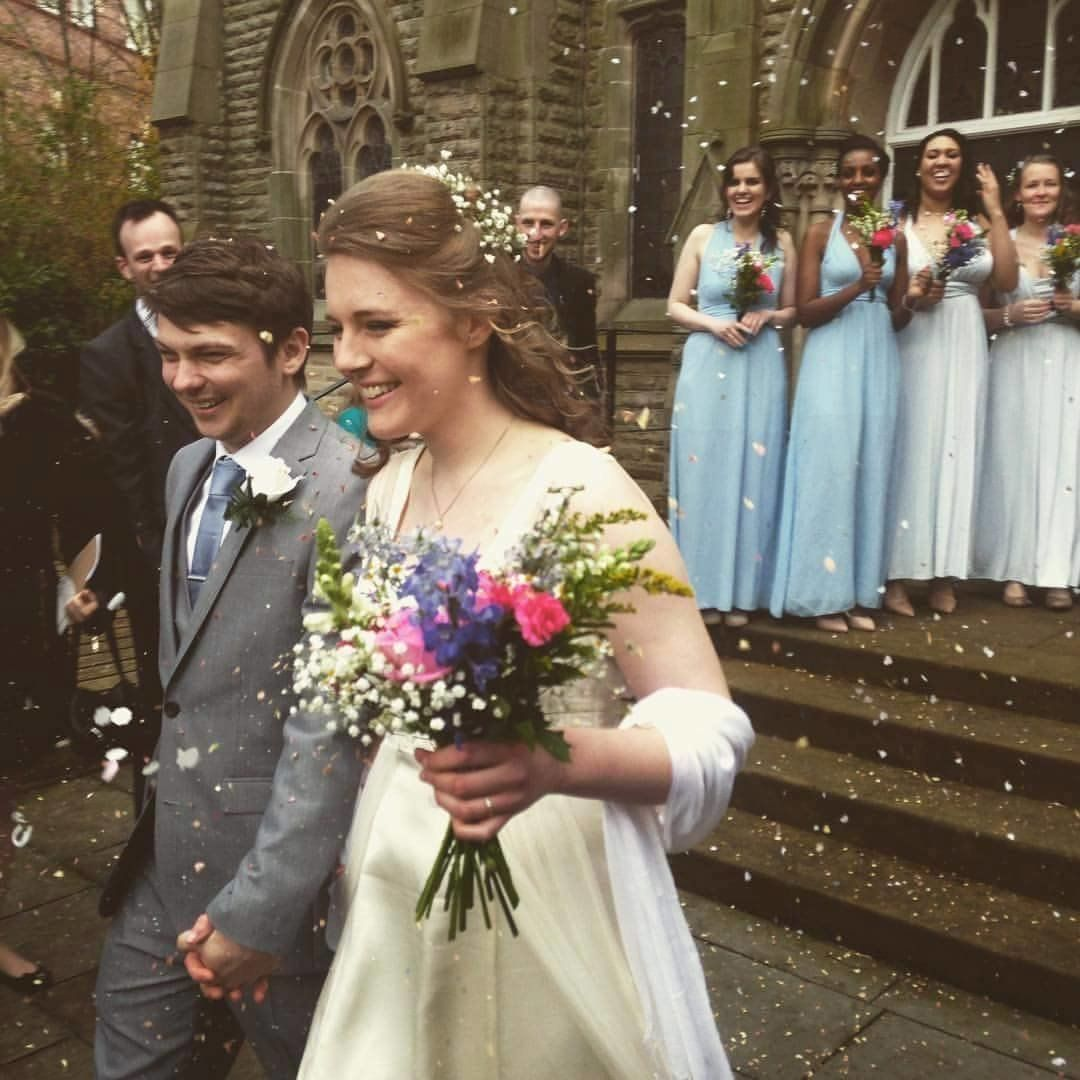 The bride and groommet in 2014 when they were both interning in Durham,
