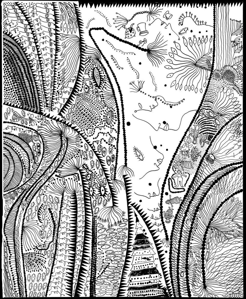 草間彌生が描いた「人魚姫」から目が離せない(画像集)