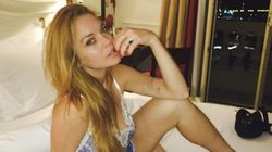 Lindsay Lohan's Lingerie Tribute To Nice Attack Is All Sorts Of