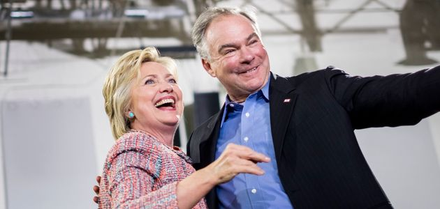 Hillary Clinton and Sen. Tim Kaine (D-Va.) appeared together at arally in Virginia earlier this...