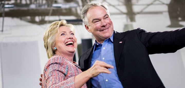 Hillary Clinton and Sen. Tim Kaine (D-Va.) appeared together at a rally in Virginia earlier this month. Many saw it