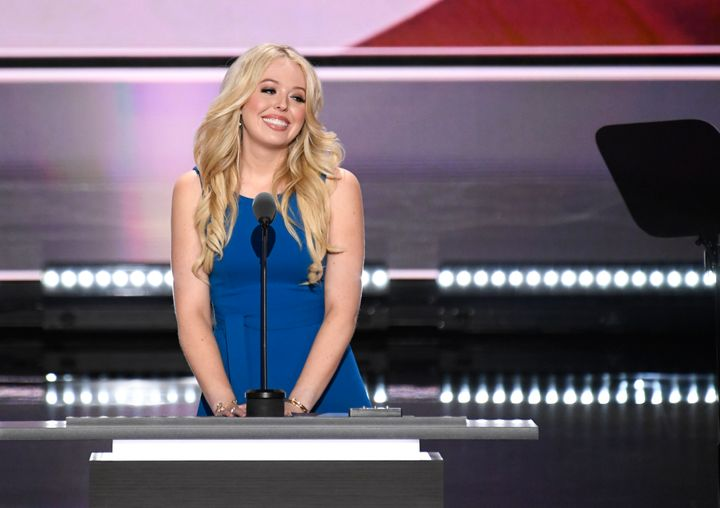 Tiffany Trump speaking at the 2016 Republican National Convention.