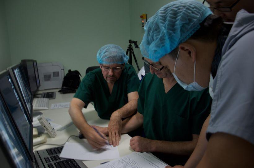 L-R: Tony Nobles, Dr. Michael Mullen, Dr. Yuri Pya