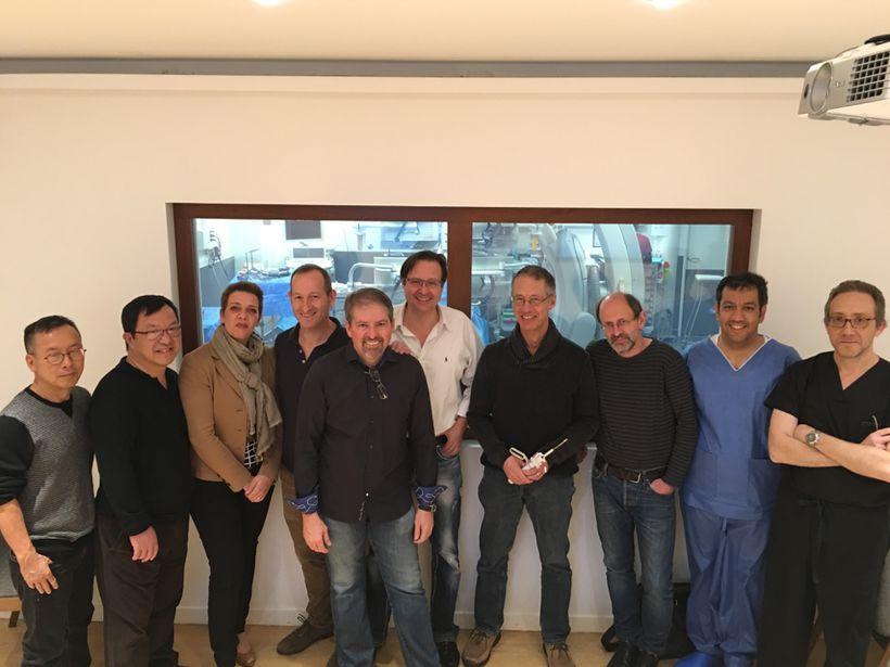 L-R: Tuan Ly, Dr. Yuri Pya, Dr. Nalan Schnelle, Dr. Michael Mullen, Tony Nobles, Dr. Markus Reinartz, Dr. Horst Sievert, Dr.