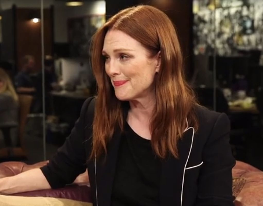 Julianne Moore shared her thoughts on the presidential race and Donald Trump in a recent conversation with The Huffington Post.