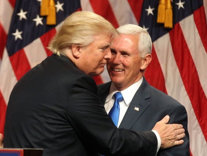Donald Trump introduces Indiana Gov. Mike Pence as his vice presidential running mate.