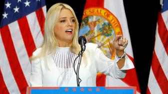 Florida Attorney General Pam Bondi speaks about Republican U.S. presidential candidate Donald Trump during a campaign rally in Tampa, Florida, U.S. June 11, 2016.  REUTERS/Scott Audette