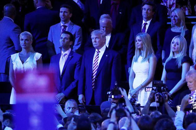 Vanessa Trump, Donald Trump Jr, Republican presidential candidate Donald Trump, Ivanka Trump and Tiffany...