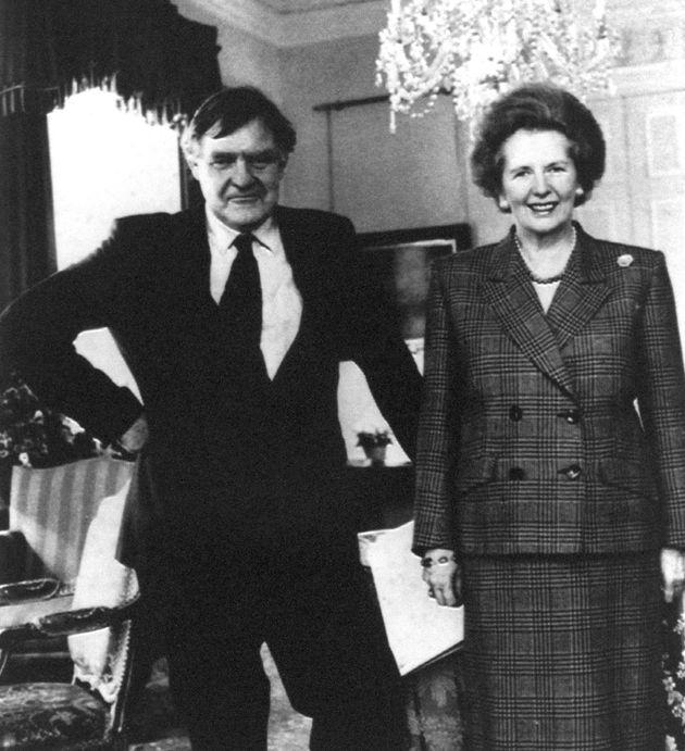Margaret Thatcher with her press secretary Bernard