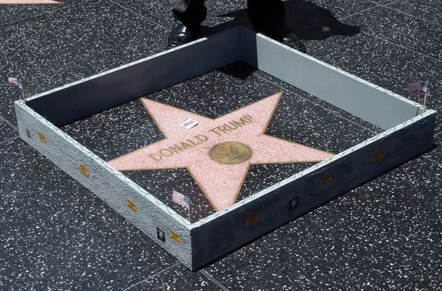 Donald Trump's Star On The Hollywood Walk Of Fame Gets A Tiny Border