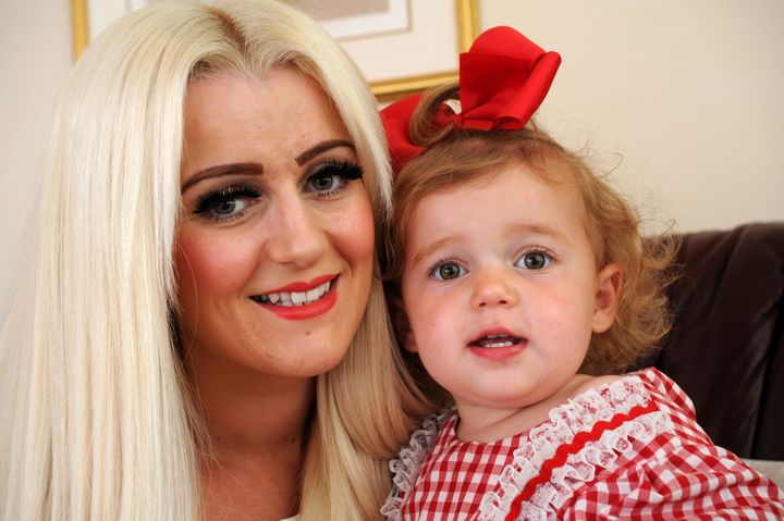 Leigh-Anne Challinor and her daughter Tallulah.