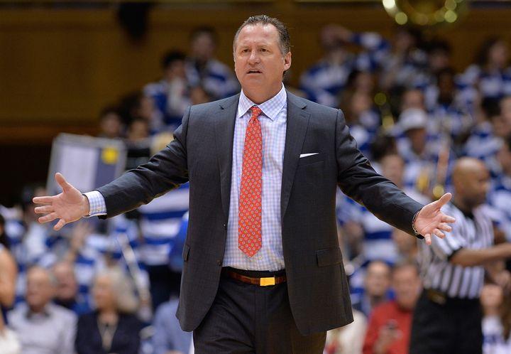 NC State head basketball coach Mark Gottfried onFeb. 6, 2016, in Durham, North Carolina.