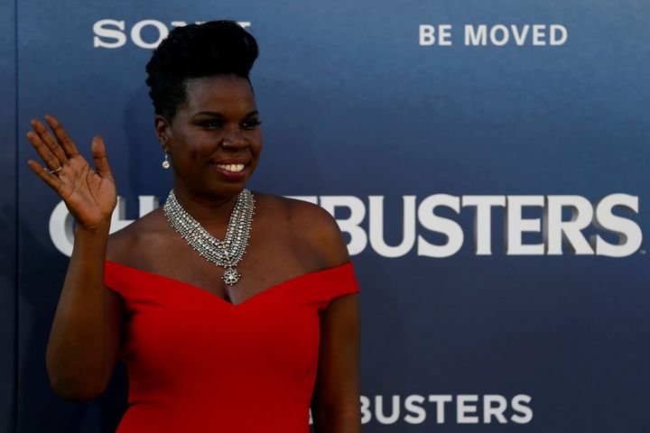 Leslie Jones received some backup from fellow Ghostbuster Dan Akyroyd.