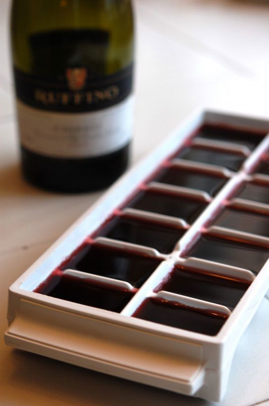 Freezing wine in ice cubes by The Art Of Doing Stuff