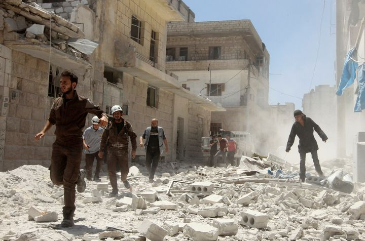 """Syrian National Coalitionpresident Anas al-Abdah warned that the killing of civilians by U.S.-led aircraft would """"prove"""
