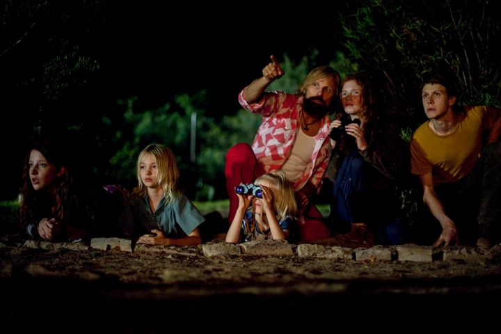 """Viggo Mortensen and his fictional clan star in a scene from """"Captain Fantastic."""""""