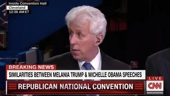 Jeffrey Lord appearing on CNN at the Republican National Convention.