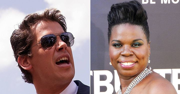 Milo Yiannopoulos and Leslie Jones
