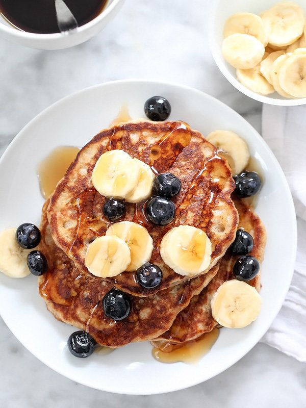 """<strong>Get the <a href=""""http://www.foodiecrush.com/best-banana-bread-pancakes/"""" target=""""_blank"""">Banana Bread Pancakes recipe"""