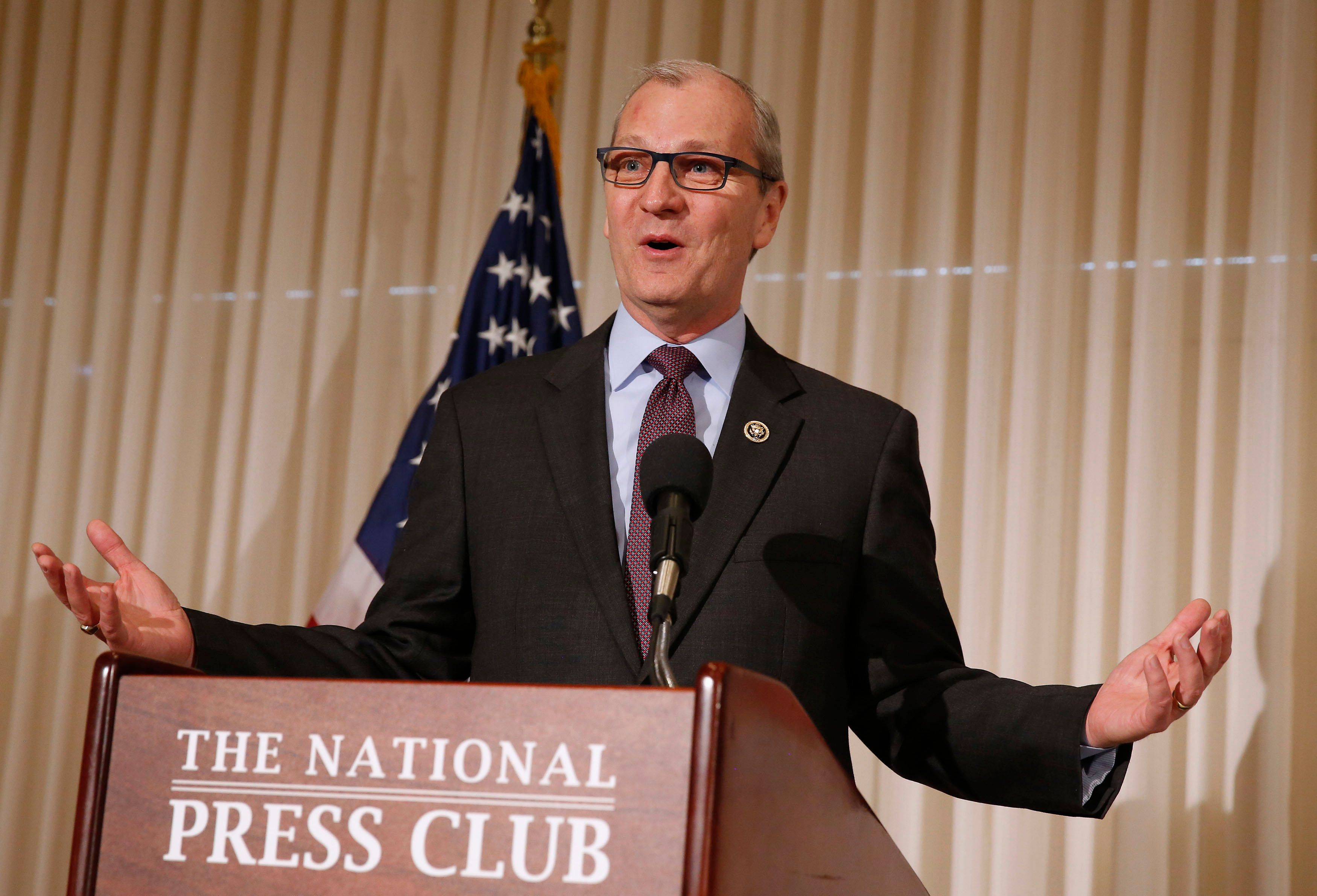 U.S. Representative Kevin Cramer (R-ND) talks at the public launch of the U.S. Agriculture Coalition for Cuba while at the National Press Club in Washington, January 8, 2015. REUTERS/Larry Downing/File photo