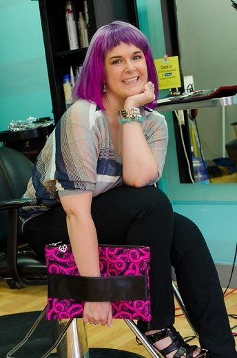 "Heidi Kelly of HKelly designs with her Perfect Clutch <a rel=""nofollow"" href=""http://hkellydesigns.com/collections/all"" targe"