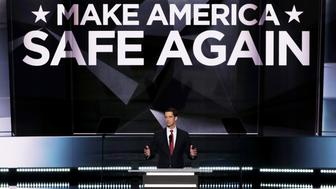 CLEVELAND, OH - JULY 18:  Sen. Tom Cotton (R-AR) delivers a speech on the first day of the Republican National Convention on July 18, 2016 at the Quicken Loans Arena in Cleveland, Ohio. An estimated 50,000 people are expected in Cleveland, including hundreds of protesters and members of the media. The four-day Republican National Convention kicks off on July 18.  (Photo by Alex Wong/Getty Images)