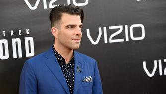 SAN DIEGO, CA - JULY 20:  Actor Zachary Quinto attends the premiere of Paramount Pictures' 'Star Trek Beyond' at Embarcadero Marina Park South on July 20, 2016 in San Diego, California.  (Photo by Kevin Winter/Getty Images)