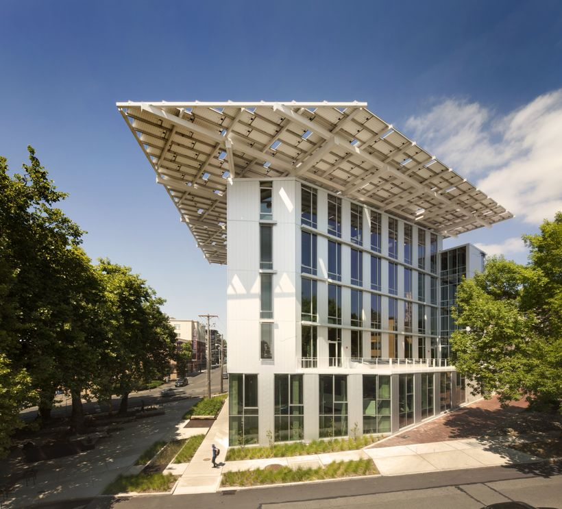 <i>The award-winning, ultra-high performance Bullitt Center office building in Seattle, WA. has many innovative features and