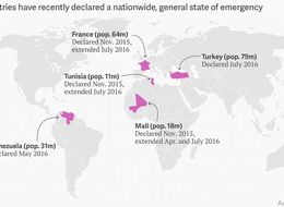 All The Countries In A State Of Emergency This Year In One Map