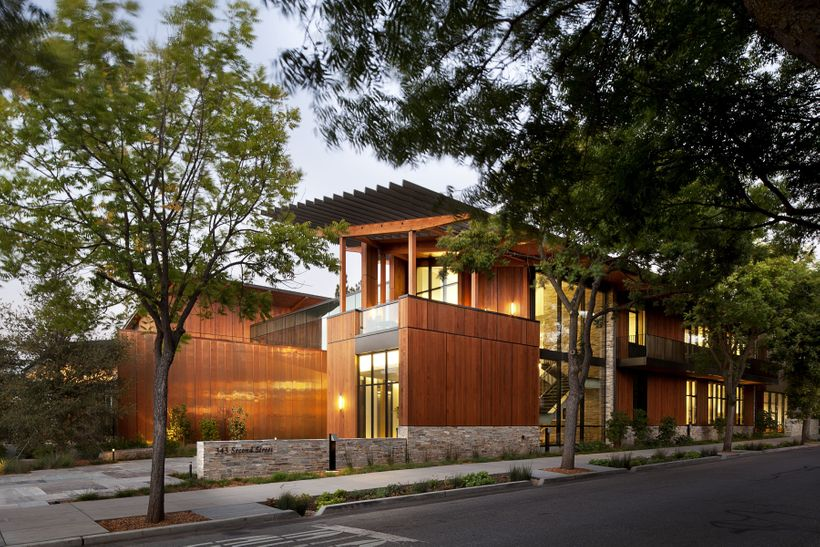 <i>The David and Lucille Packard Foundation Headquarters, a net zero energy office building in Los Altos, CA.</i>