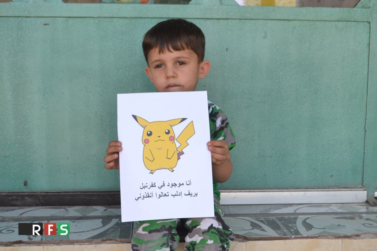Syrian Children Use Pokemon Go In Appeal To The World To Save