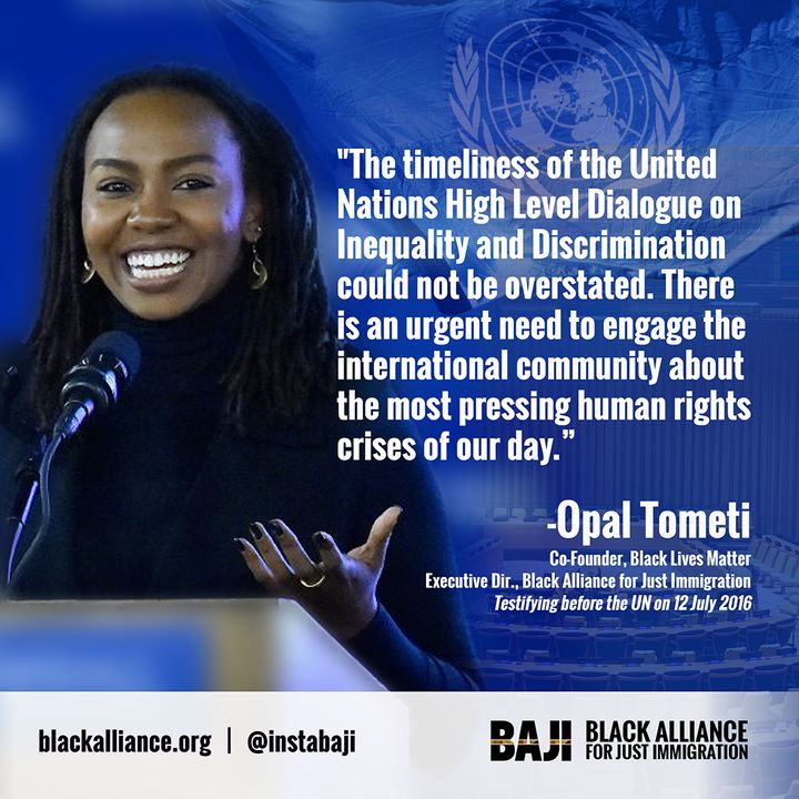 Opal Tometi reflects on her address at the UN Assembly.