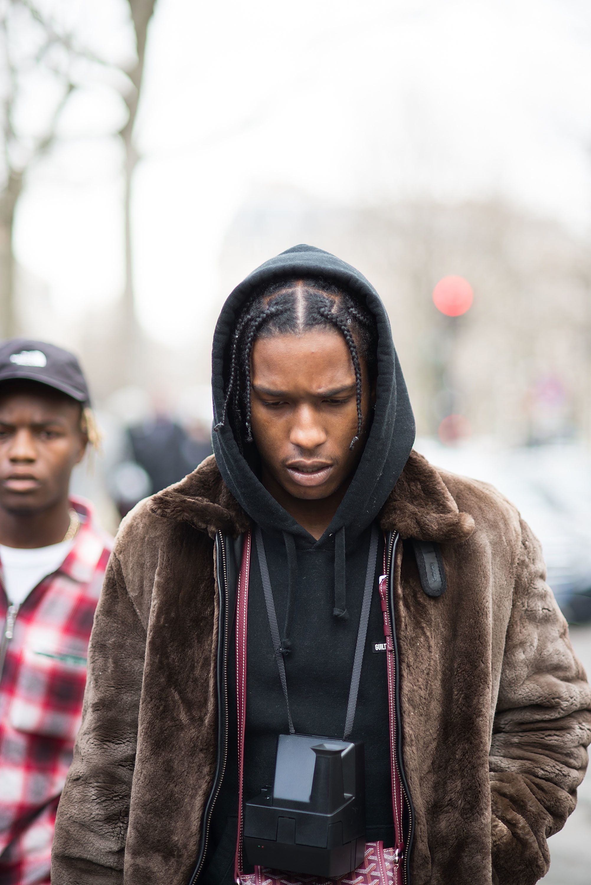 PARIS, FRANCE - MARCH 09: Asap Rocky leaves after the Miu Miu show at Place de Iena during Paris Fashion Week FW 16/17 on March 9, 2016 in Paris, France.  (Photo by Vanni Bassetti/Getty Images)