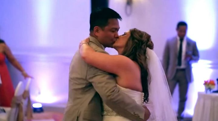 """""""I carry my vows I wrote to Shannonin my wallet as a reminder of what I promised to her,"""" groom Don Perez said."""