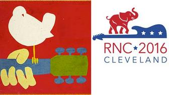2016 GOP Convention and 1969 Woodstock Music Festival logos look similar, but Woodstock just wants to spread the love.