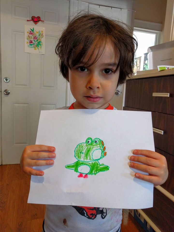 Ralphie with a drawing of his.