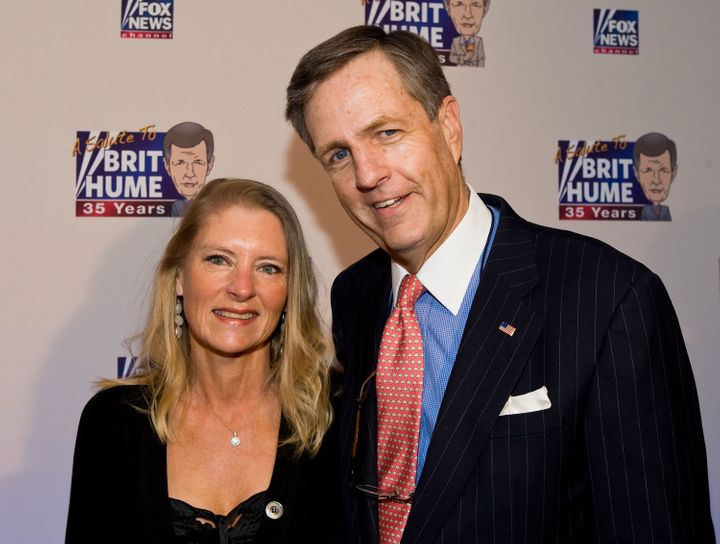 Brit Hume, pictured here with his wife, Kim, is a political analyst for Fox.