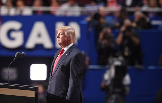 Republican presidential candidate Donald Trump addresses the final night of the Republican National Convention...
