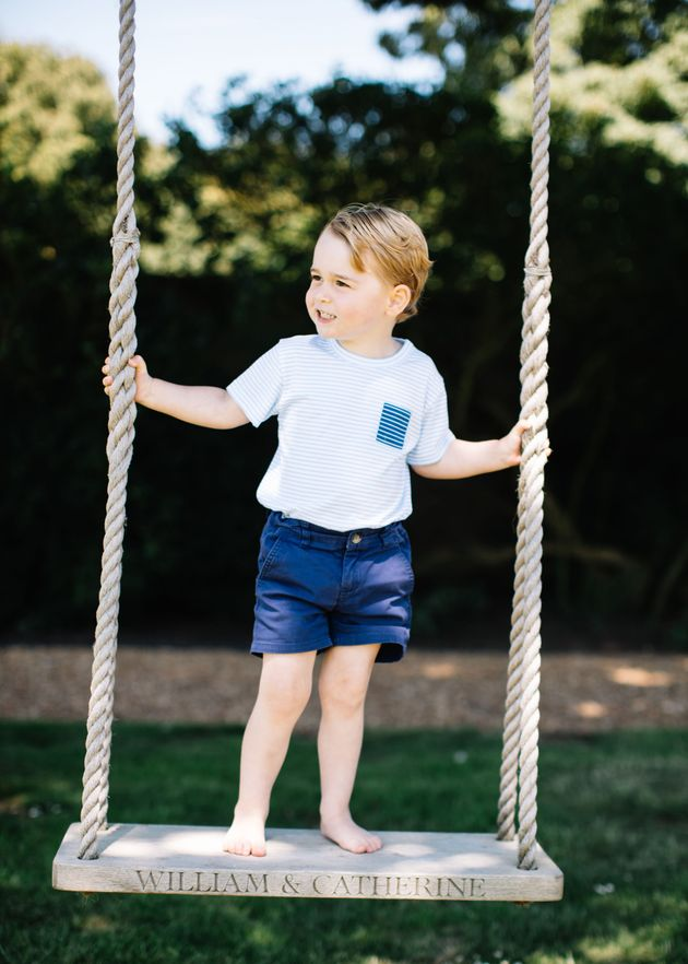 The photographs were taken at the Duke and Duchess of Cambridge's Norfolk home in